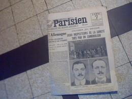 Journal Quotidien  Le Petit Parisien 7 Fevrier T  1921   B Etat   D Ensemble Cf Photos - Journaux - Quotidiens