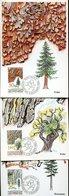 38381 Liechtenstein, 3 Maximum  1986  Differents Trees,  Barcs, Ecorces D'arbres, Baumrinden - Bäume