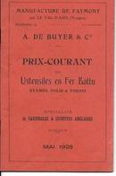 88 - Le Val D'Ajol - Catalogue-tarif - Manufacture De Faymont 1928 (voir Descriptif) - France