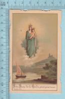Religion, Die Cut- Notre Dame De La Garde , Bouasse Jeune France - Holy Card, Image Pieuse, Santini - Santini