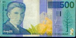 BELGIQUE  -  500 Francs Magritte - [ 2] 1831-... : Royaume De Belgique