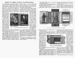 COMMENT ON FABRIQUE UNE BOITE D'ALLUMETTES-BOUGIES   1912 - Tabac (objets Liés)