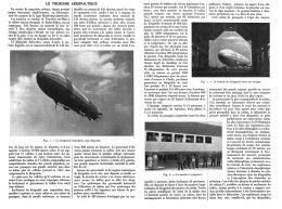 LE TOURISME  AERONAUTIQUE ( ZEPPELIN )    1912 - Transports