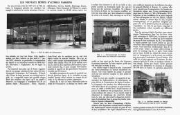 LES NOUVEAUX DEPOTS D'AUTOBUS PARISIENS (POISSONNIER - CLICHY- BAGNOLET- CROIX-NIVERT ... Ect )   1912 - Transports