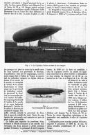 """NOUVEAUX DIRIGEABLES FRANCAIS  """" LE CAPITAINE FERBER  """"  1912 - Transports"""