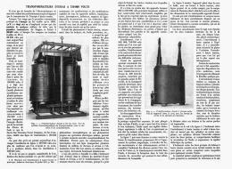TRANSFORMATEUR D'ESSAI à 75 000 VOLTS   1912 - Sciences & Technique