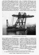 UNE GRUE FLOTTANTE De PUISSANCE EXEPTIONNELLE  1912 - Sciences & Technique