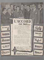 TSF : Termes De L'accord Dans Le Commerce Radio électrique 1938 (PPP9379) - Advertising
