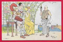 CPA Publicitaire - Champagne Bulteaux Père - Illustrateur Henri Morin - Les Grecs - Advertising