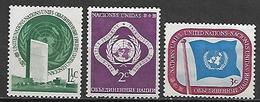 NATIONS - UNIES   -   1951 .  Y&T N° 2 à 4 **. - New York -  VN Hauptquartier