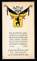 WWII BRANDWEERBOND DEINZE SLACHTOFFERS OORLOG -  - 2 SCANS - Obituary Notices