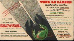 Buvard – Ligue Française Contre Le Cancer - Buvards, Protège-cahiers Illustrés