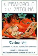 [MD2295] CPM - IL FRANCOBOLLO E LA CARTOLINA - CONVEGNO APAC - TORINO PALAZZO ESPOSIZIONI 1989 - NV - Borse E Saloni Del Collezionismo