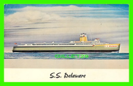 FERRY - S. S. DELAWARE - THE FLAGSHIP DELAWARE PLYING BETWEEN LEWES & CAPE MAY - TRAVEL IN 1965 - E. FARTHING - - Ferries