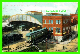 GARES - NEW YORK CENTRAL STATION, ROCHESTER, NY - ANIMATED -  TRAVEL IN 1908 - SOUVENIR POST CARD CO - - Gares - Avec Trains