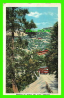 TRAINS - CLIMBING BY TROLLEY, MT LOWE, CA -  TRAVEL IN 1927 - - Trains