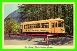 """TRAMWAYS - THE """" DINKEY """" STONE MOUNTAIN, GEORGIA - STONE MOUNTAIN SCENIC RAILROAD - GASTON PHOTO SERVICE - - Tramways"""