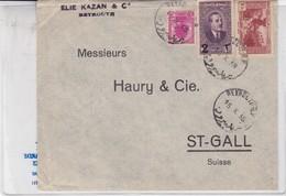 SOBRE ENVELOPE CIRCULE LEBANON TO SUISSE YEAR 1938- BLEUP - Libanon