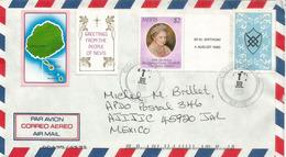 Belle Lettre De L'île Nevis (Caraïbes)  Adressée Au Mexique , Avec Timbre à Date Arrivée Au Verso - St.Kitts And Nevis ( 1983-...)