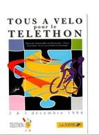TELETHON  LA POSTE PARIS 1994  DESSIN DE CHRISTIAN CHABERT - Postal Services