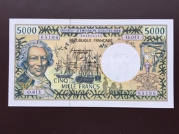 TAHITI P28 5000 FRANCS ND1969 UNC - Papeete (French Polynesia 1914-1985)