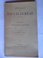 Livret ANNALES Du BACCALAUREAT De 1946 - Versions LATINES - Librairie VUIBERT - 44 Pages - 11 Photos - Supplies And Equipment