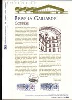 2016, DOCUMENT OFFICIEL DE LA POSTE: Brive La Gaillarde, Correze - Documents Of Postal Services