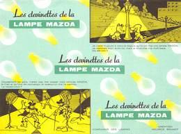 VP-GF.18-513 : BUVARD. PILES MAZDA. LES DEVINETTES DE LA LAMPE MAZDA - Batterie