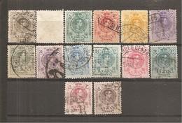 España/Spain-(usado) - Edifil  267-67n-79 - Yvert  242(x2)-53 (o) - 1889-1931 Reino: Alfonso XIII