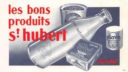 VP-GF.18-516 : BUVARD. LES BONS PRODUITS LAITIERS SAINT-HUBERT. FROMAGE MICEL DEMI-SUISSE. LORRAINE - Produits Laitiers