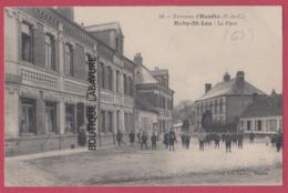 62 - HUBY SAINT LEU---( Environs D'Hesdin )--La Place---animé - France