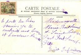 CPA N°23175 - VIGNETTE TIMBRE RARE MANUFACTURE FRANCAISE PARIS BOULOGNE 1900 - DORE A L' OR ? - ROUEN - CATHEDRALE - Exhibitions