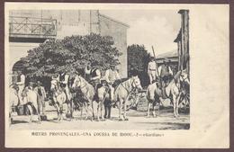 Moeurs Provençales - Una Coussa De Bioou N° 2  - Gardians Chevaux Camarguais Cheval Cavalier Bouches-du-Rhône Gardien - France
