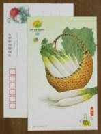 Radish,CN 01 China Int'l Fruit & Vegetable Fair 2001 Advertising Postal Stationery Card - Vegetables