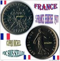 FRANCE  5 F 1977 FDC Sous Scellée CUPRO-NICKEL - Algeria