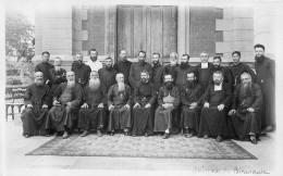 CARTE PHOTO  GROUPE DE MISSIONNAIRES  DE MANDALAY - Myanmar (Burma)