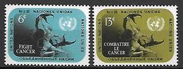 NATIONS - UNIES   -   1970 .  Y&T N° 201 / 202 **.    Lutte Contre Le Cancer - New York -  VN Hauptquartier