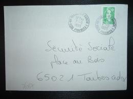 LETTRE TP M. DE BRIAT 2,40  OBL.7-9 1995 65 TARBES RP ANNEXE 1 HTES PYRENEES - Poststempel (Briefe)