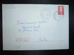 LETTRE TP M. DE BRIAT TVP ROUGE OBL.7-8 1995 65 TARBES RP AN. 2 HTES PYRENEES (ANNEXE) - Poststempel (Briefe)