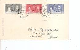 Chypre ( Lettre Premier Jour De 1937  Vers Limassol à Voir) - Cyprus (...-1960)