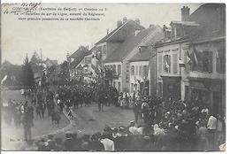 GIROMAGNY (Territoire De Belfort) 1er Octobre 1913; Le 1er Bataillon Du 42è De Ligne Escorté Du Régiment - Giromagny
