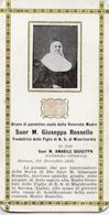 Santino Antico SUOR M. GIUSEPPA ROSSELLO Con Reliquia (Ex-Indumentis) 1911 - OTTIMO P73 - Religione & Esoterismo