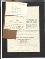 CAMBRAI Faire Part Décès Mgr  Sonnois , Archevêque  1913 + 2 Cdv  Emile Sonnois - Décès