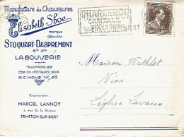 CP Publicitaire - LA BOUVERIE 1953 - STOQUART-DASPREMONT - Fabrique De Chaussures - Frameries