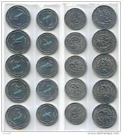 Algerie Argelia Algeria Lot De 10 Pièces 5 X 1 Centime  &  5 X 2 Centimes 1964  Algerie   SPL Aluminium - Algeria