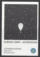 Suède - Europa 2009 - Astronomie - Yvert C2669 - Carnets