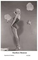 MARILYN MONROE - Film Star Pin Up PHOTO POSTCARD - 201-682 Swiftsure Postcard - Postales