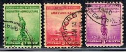 US 1331 // Y&T 451,452,453 //  1940 - United States