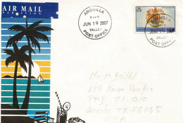 "ANGUILLA ISLAND. Lettre Du Village ""The Valley"".   Adressée Au Texas - Anguilla (1968-...)"