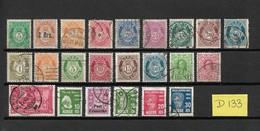 Norway/Norge/Noorwegen Old Collection,type?? Used/gebruikt/oblitere(D-133) - Verzamelingen (zonder Album)